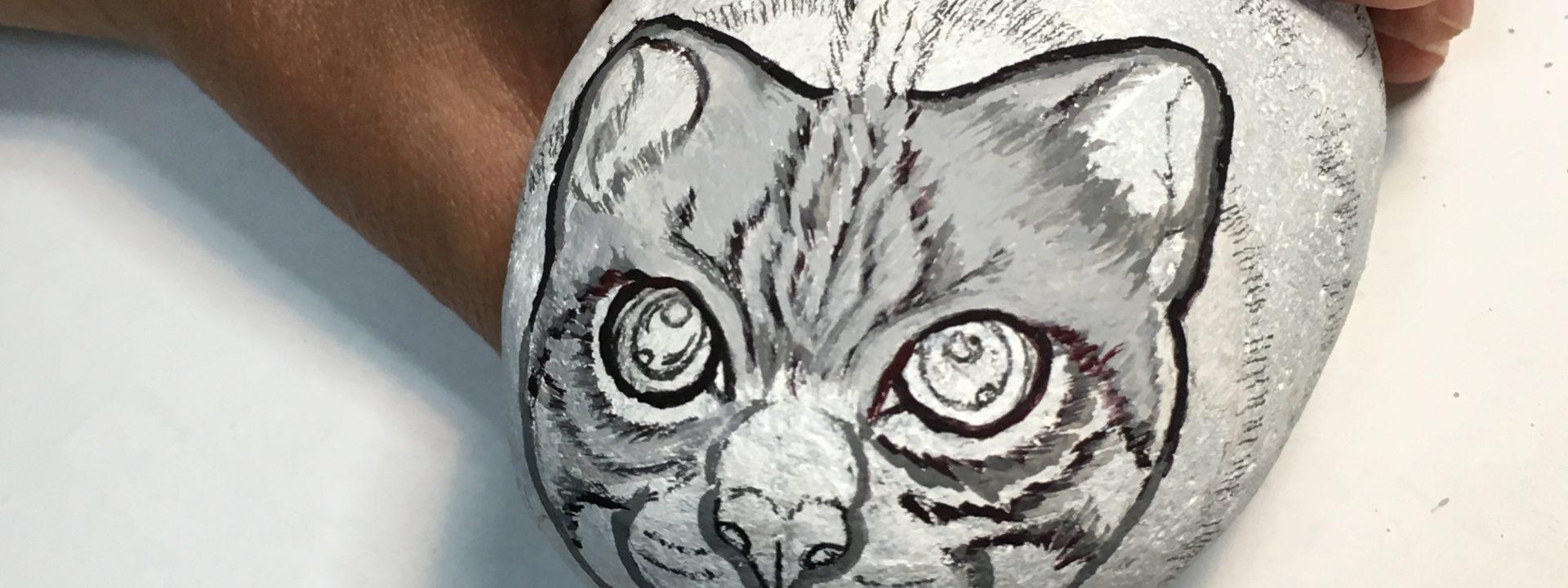 石猫の制作を再開しました